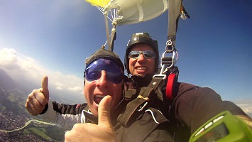 Tandem Skydiving Parachute Ride
